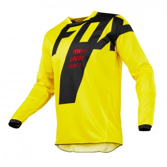 Motocross Jerseys FOX 180 Mastar Yellow Kid 005