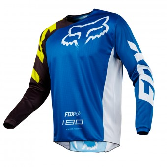 Motocross Jerseys FOX 180 Race Blue White Kid 002