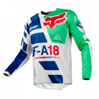 Motocross Jerseys FOX 180 Sayak Green Kid 004