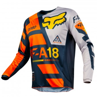 Motocross Jerseys FOX 180 Sayak Orange Kid 009