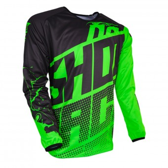 Motocross Jerseys SHOT Devo Venom Neon Green Kid
