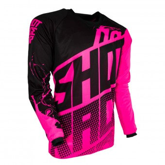 Motocross Jerseys SHOT Devo Venom Neon Pink Kid