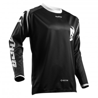 Motocross Jerseys Thor Sector Zones Black