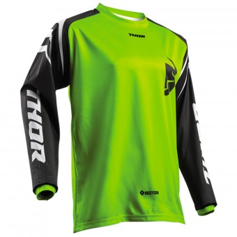 Motocross Jerseys Thor Sector Zones Lime Kid