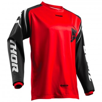 Motocross Jerseys Thor Sector Zones Red Kid