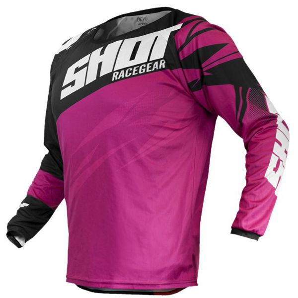 Motocross Jerseys SHOT Devo Ventury Neon Pink Fushia Kid
