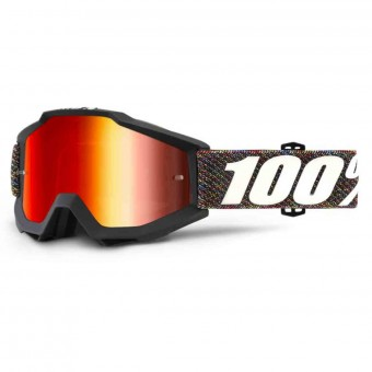 Motocross Goggles 100% Accuri Krick Mirror Red Lens