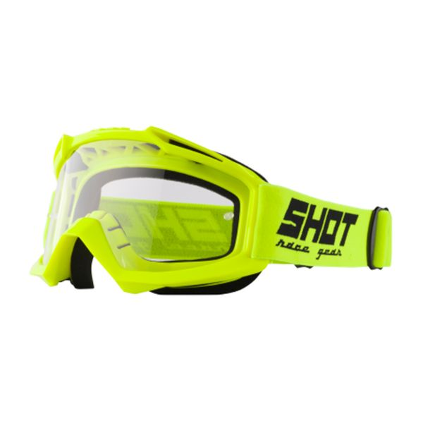 Motocross Goggles SHOT Assault Neon Yellow