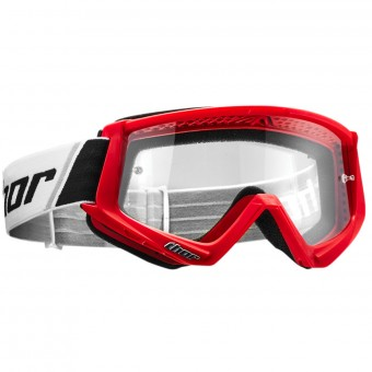 Motocross Goggles Thor Combat Red Black