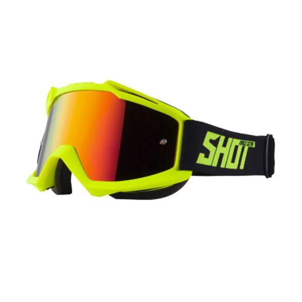 Motocross Goggles SHOT Iris Neon Yellow Matt Iridium Red