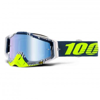 Motocross Goggles 100% Racecraft Eclipse Mirror Blue