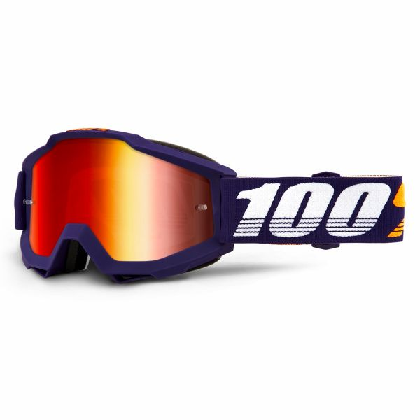 Motocross Goggles 100% Accuri Grib Mirror Red Lens