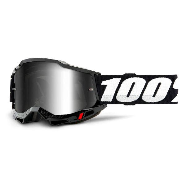 Motocross Goggles 100% Accuri 2 Black - Iridium Silver