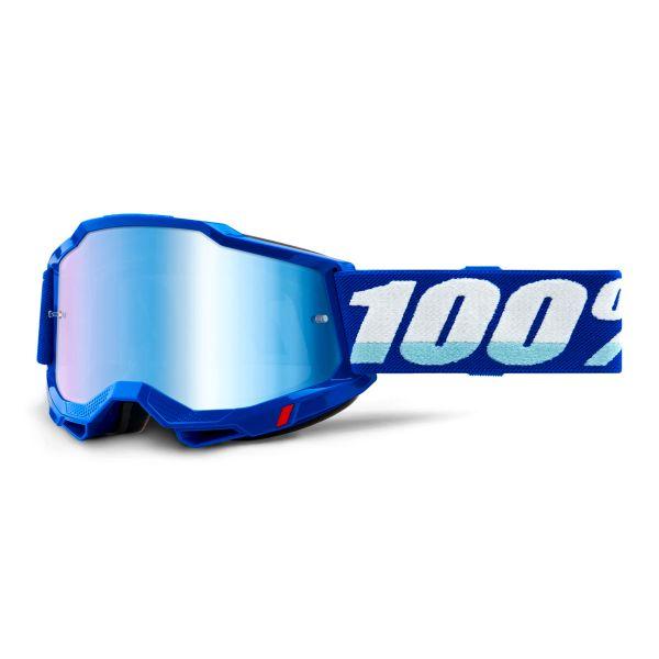 Motocross Goggles 100% Accuri 2 Blue - Iridium Blue
