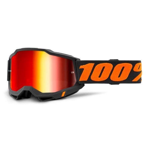 Motocross Goggles 100% Accuri 2 Chicago - Iridium Red