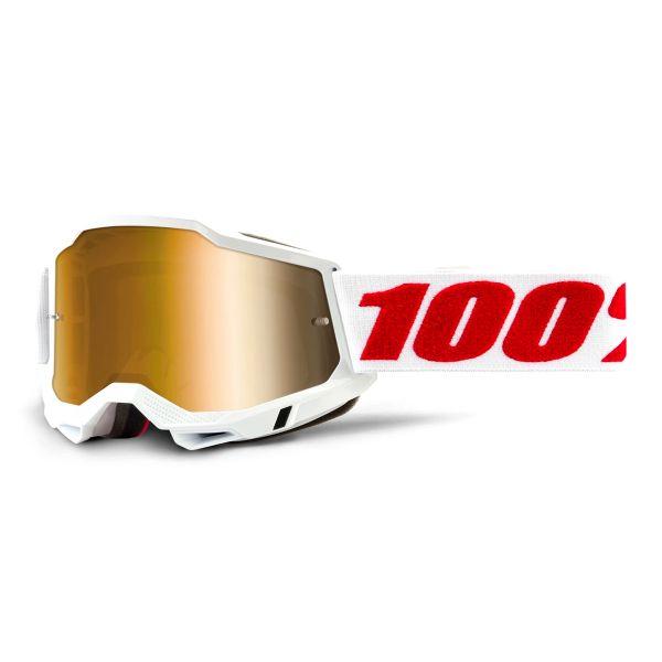 Motocross Goggles 100% Accuri 2 Denver - Iridium Gold