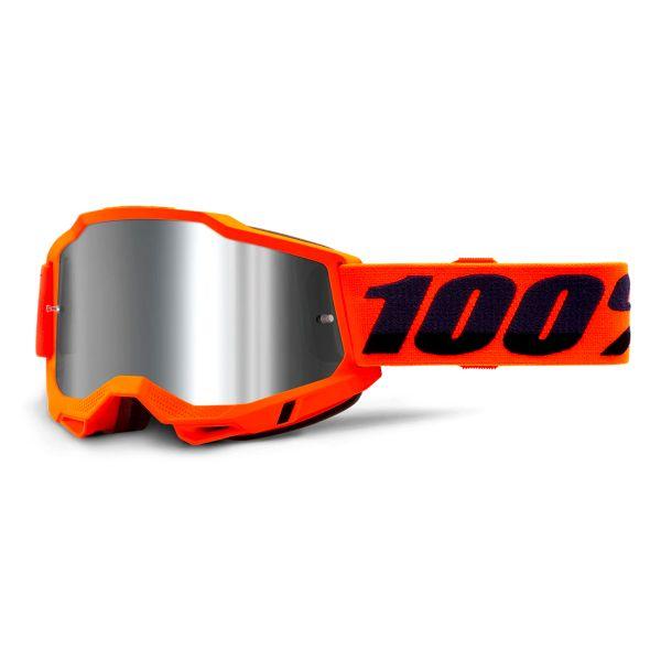 Motocross Goggles 100% Accuri 2 Orange - Iridium Silver