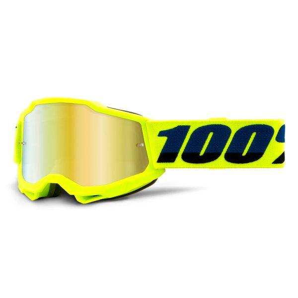 Motocross Goggles 100% Accuri 2 Yellow Kid - Iridium Gold