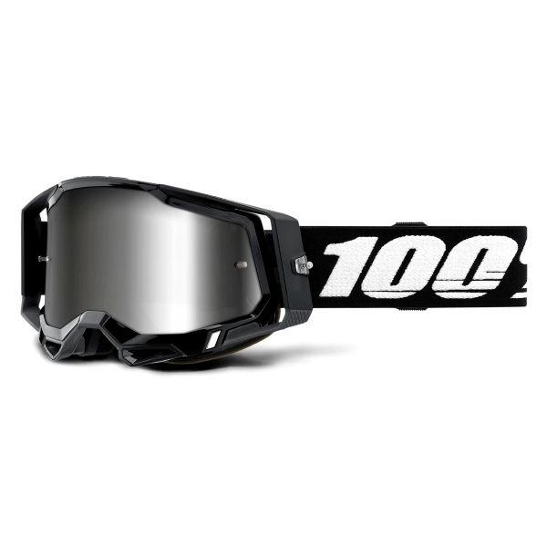 Motocross Goggles 100% Racecraft 2 Black - Iridium Silver