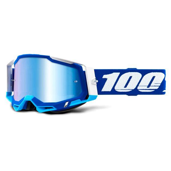 Motocross Goggles 100% Racecraft 2 Blue - Iridium Blue