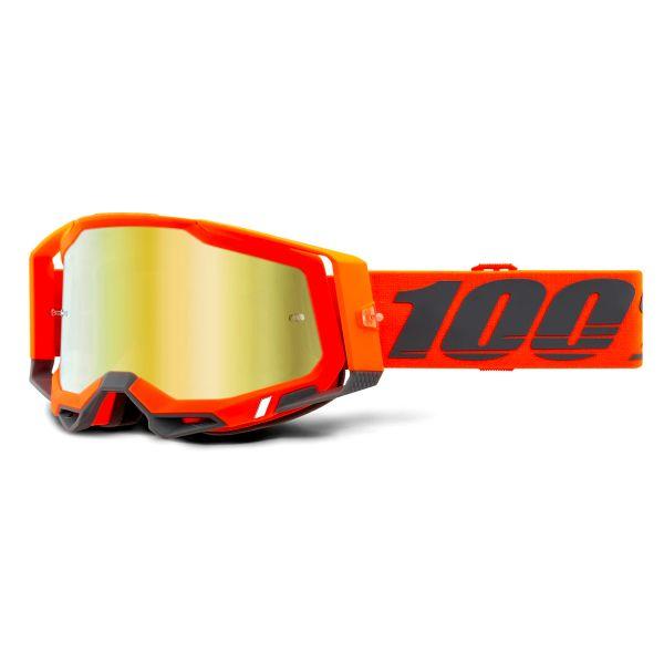 Motocross Goggles 100% Racecraft 2 Kerv - Iridium Gold