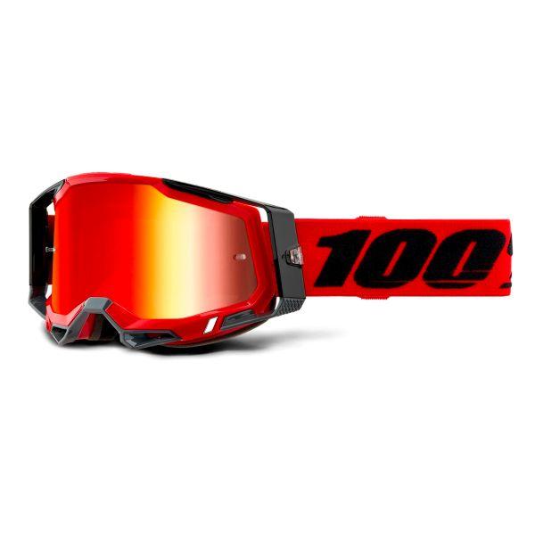 Motocross Goggles 100% Racecraft 2 Red - Iridium Red