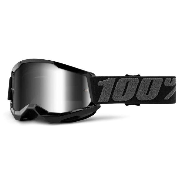 Motocross Goggles 100% Strata 2 Black Kid