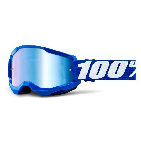 Motocross Goggles 100% Strata 2 Blue - Iridium Blue