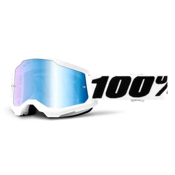 Motocross Goggles 100% Strata 2 Everest - Iridium Blue
