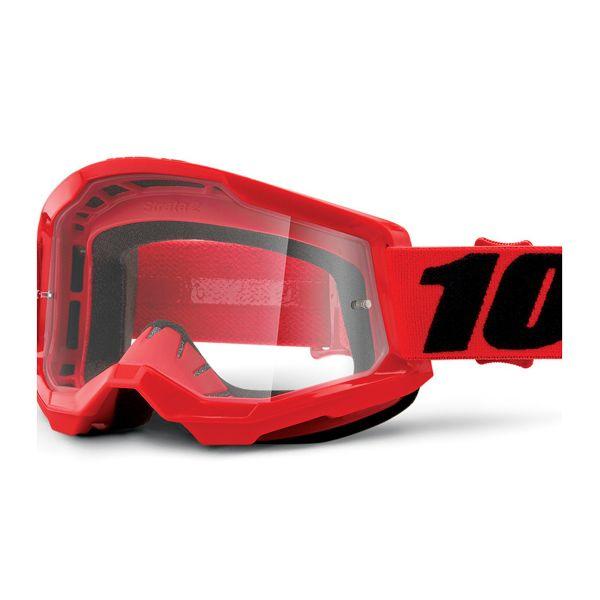 Motocross Goggles 100% Strata 2 Red Kid