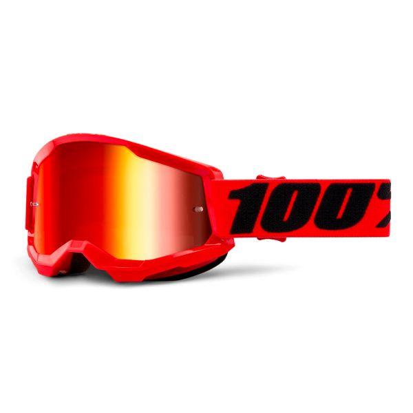 Motocross Goggles 100% Strata 2 Red - Iridium Red