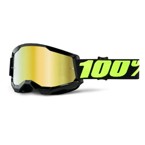 Motocross Goggles 100% Strata 2 Upsol - Iridium Gold