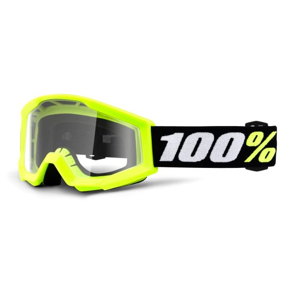 Motocross Goggles 100% Strata Mini Yellow