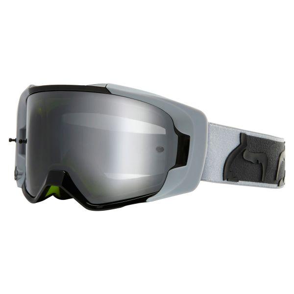 Motocross Goggles FOX Vue Dusc Light Grey Chrome Mirror Lens