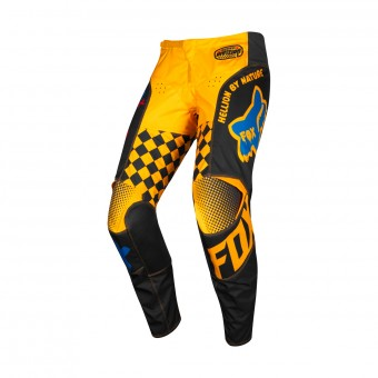 Motocross Trousers FOX 180 Czar Black Yellow Pant Kid