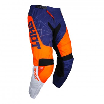 Motocross Trousers SHOT Contact Infinite Blue Neon Orange Pant