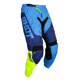 Motocross Trousers SHOT Contact Infinite Blue Neon Yellow Pant