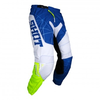 Motocross Trousers SHOT Contact Infinite Blue White Neon Yellow Pant