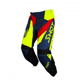 Motocross Trousers SHOT Devo Alert Blue Red Neon Yellow Pant