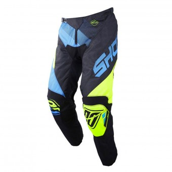 Motocross Trousers SHOT Devo Ultimate Blue Neon Yellow Pant Kid
