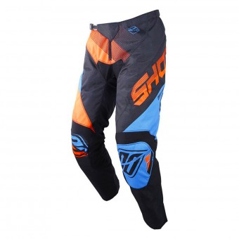 Motocross Trousers SHOT Devo Ultimate Blue Neon Orange Pant Kid