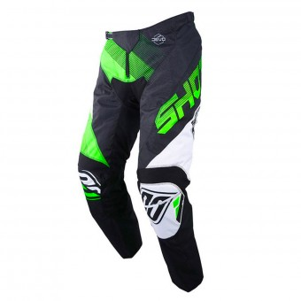Motocross Trousers SHOT Devo Ultimate Black Neon Green Pant Kid
