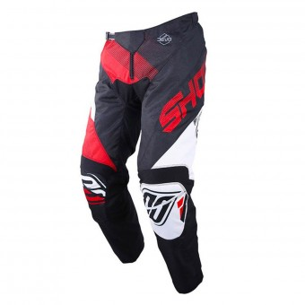 Motocross Trousers SHOT Devo Ultimate Black Red Pant Kid