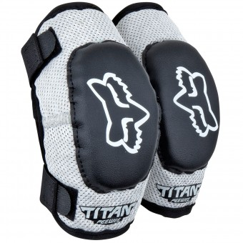 Motocross Elbow Protectors FOX Titan Elbow Enfant Black Silver