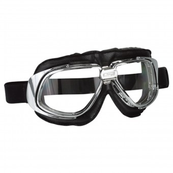 Motorcycle Glasses and Goggles Stormer Aviator T10 Chrome