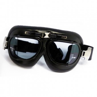 Motorcycle Goggles Torx Air Force Black - Transparent