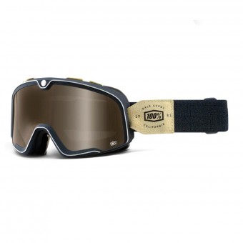 Motorcycle Goggles 100% Barstow Raw Mirror Bronze Lens