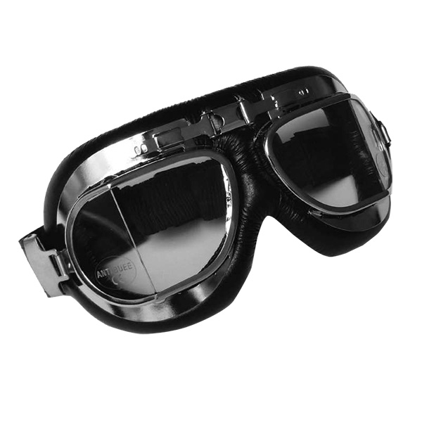 Motorcycle Goggles Torx Air Force Black Chrome - Clear