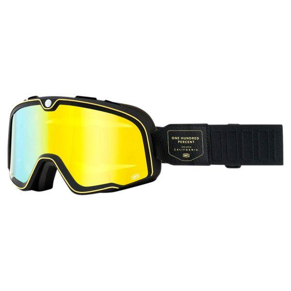Motorcycle Goggles 100% Barstow Caliber - Flash Yellow Visor
