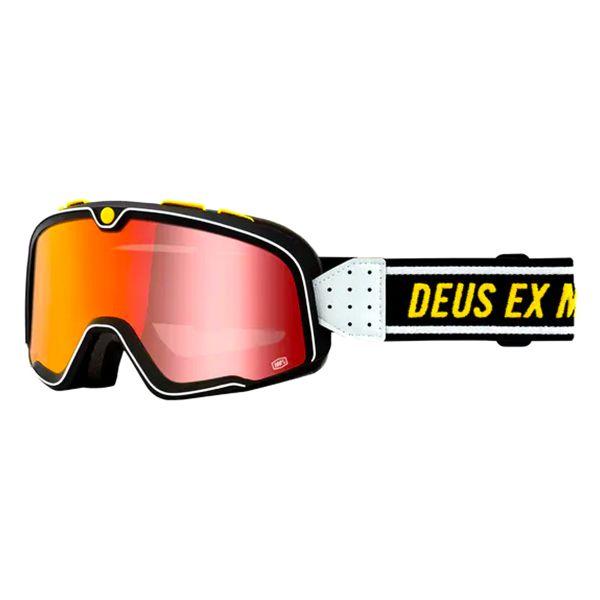 Motorcycle Goggles 100% Barstow Deus - Iridium Red Visor